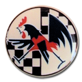 Adhésif en relief : coq gaulois
